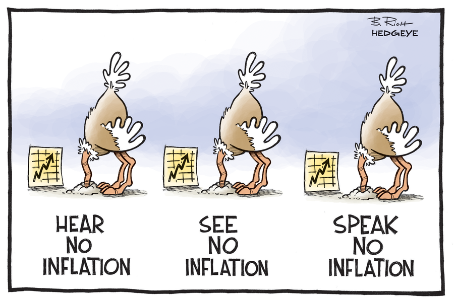 NEslyšet inflaci, NEvidět inflaci, NEmluvit o inflaci