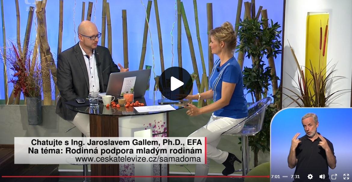Jaroslav Gall při rozhovoru s moderátorkou Martinou Vrbovou Hynkovou.